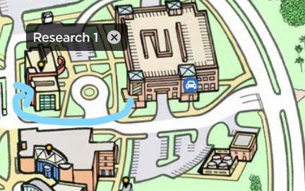 Garage C to R1 Map